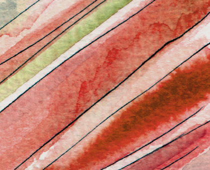 Hand drawn background red