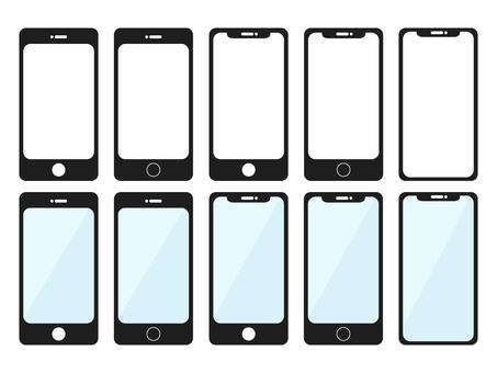 Various style smartphone set (black)