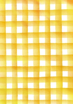 Check patterned watercolor texture Texture Yellow vertical