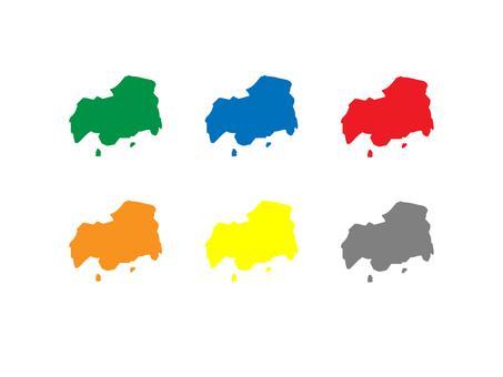 Hiroshima prefecture map set
