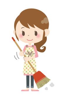 家庭主婦A *打掃房間04