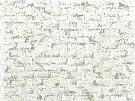 Weathered white brick texture