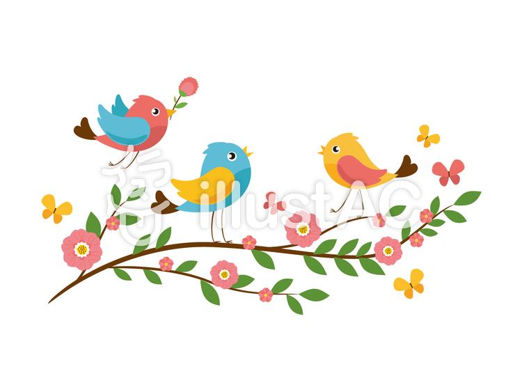 春の小鳥イラスト No 1030862無料イラストならイラストac