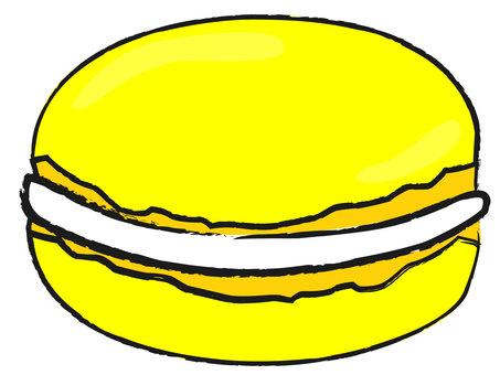 노란색 마카롱