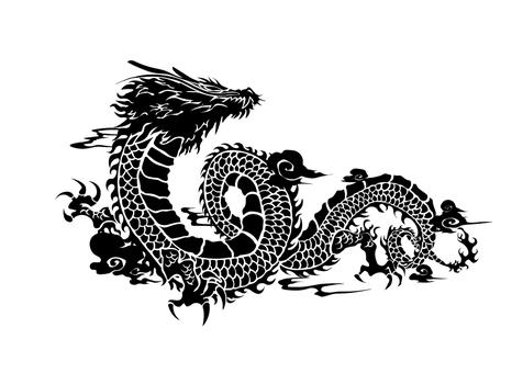 Dragon pattern illustration 02-2
