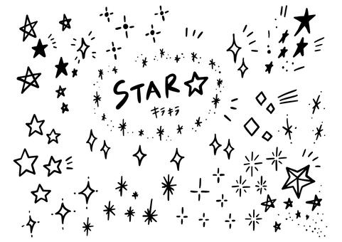 Hand-drawn sparkling icon set