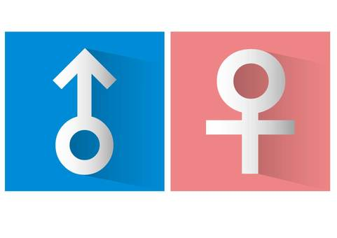 Male and female symbol mark