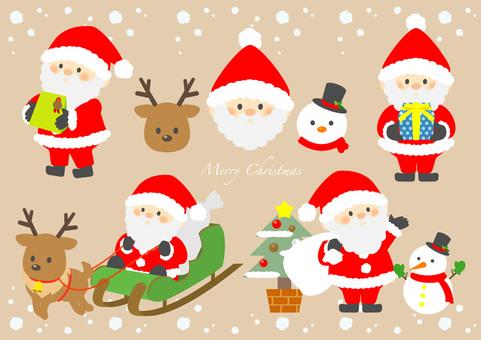 Fancy Santa character set