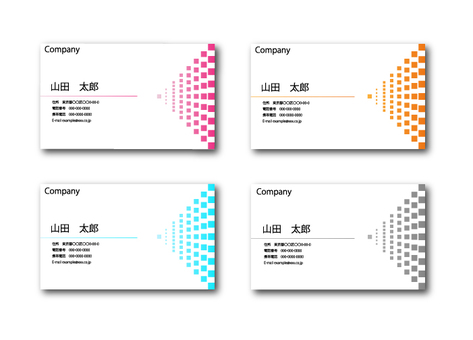 Business cards whose squares are becoming gradations 2