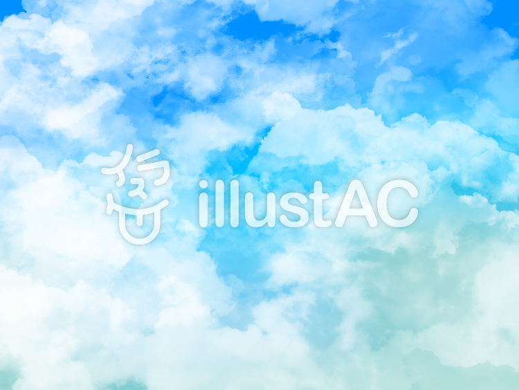 【フリーイラスト素材】雲と大空・5