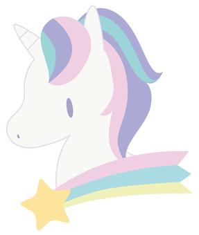 Shooting star and unicorn
