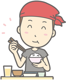 Ramen ya man - delicious Japanese food - bust