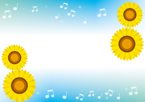 Sunflower, speech bubble, frame