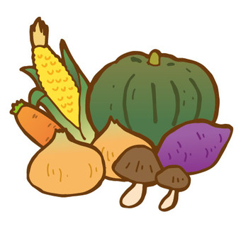 Autumn vegetables set