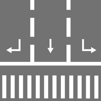 Image of multi lane · road · crosswalk