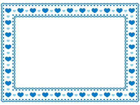 Heart pattern lace frame 5