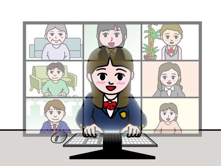 遠程工作38_高中女生
