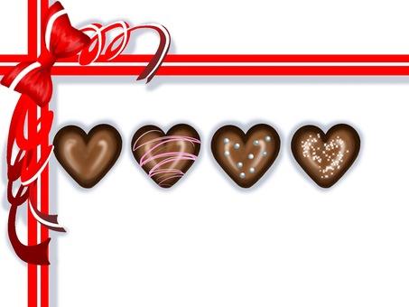 Chocolate and ribbon