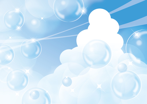 Ice cloud and soap bubble