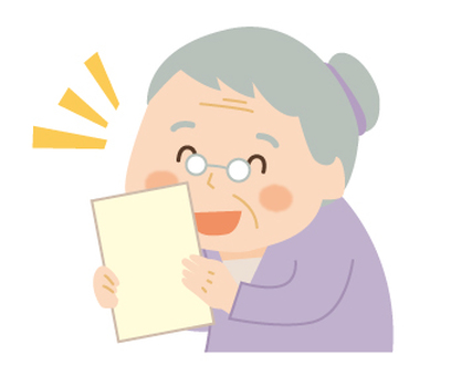 A happy grandma
