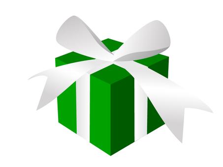 Present box green