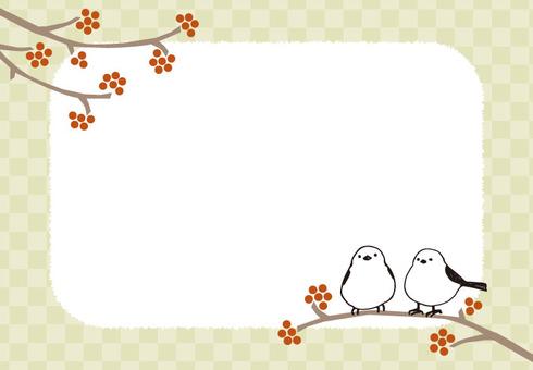 Background (Shima-ena frame / yellow)