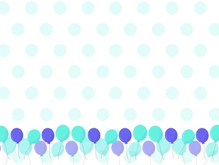 風船の背景 ブルー系