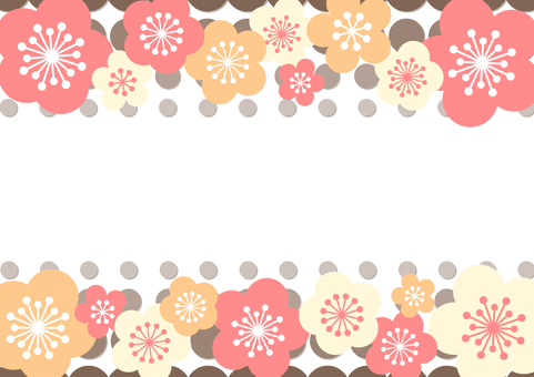New Year card background material 7a