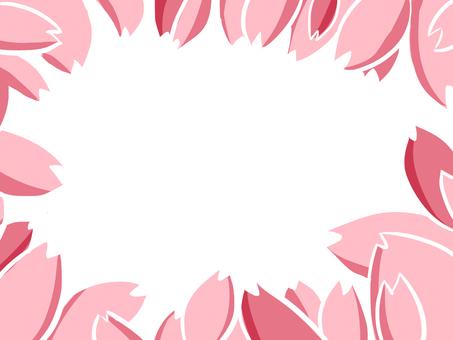 [Cherry blossom petals] frame