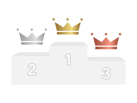 Podium and crown