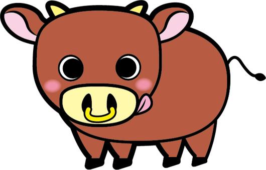 Impact big cow