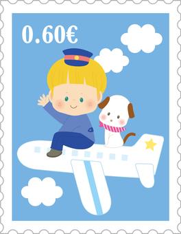 切手_飛行機