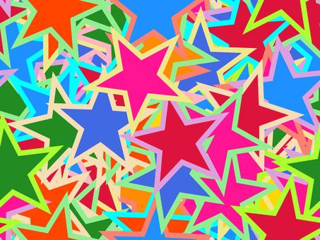 継ぎ目無し背景繰り返し星型カラフル模様