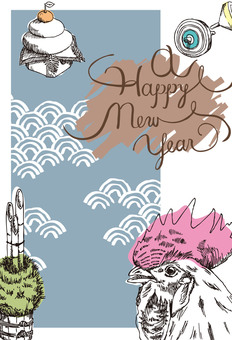Hand-painted New Year's cards 2