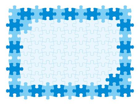 拼图框架蓝色