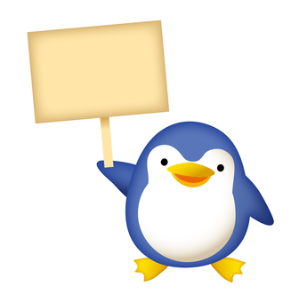 Penguins with signs