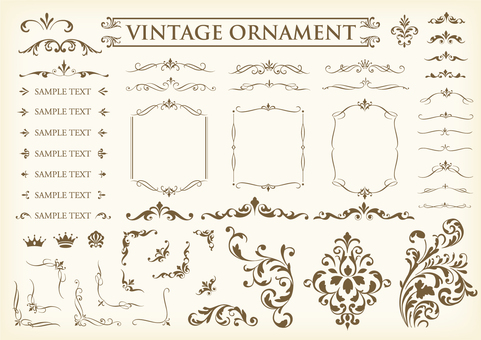 Vintage ornament set 30