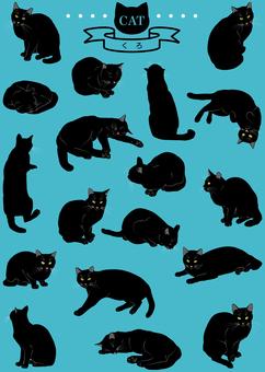 고양이 (리얼 크로) 18 포즈