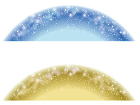 Starry Sky Background 1 Blue & Gold