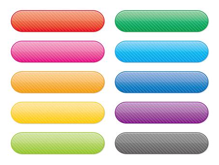 Set of stripe gloss button