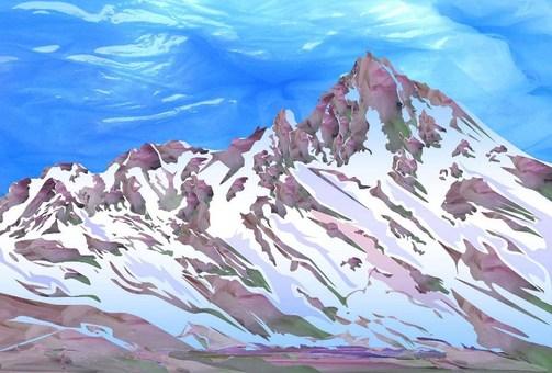 Alps snow scene