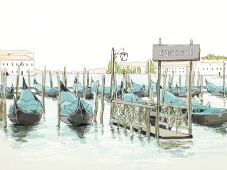 이탈리아 베네치아의 곤돌라