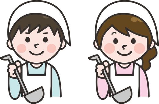 男人和女人做飯