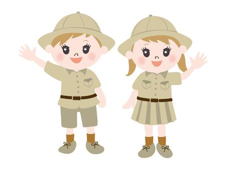 Children of expedition team