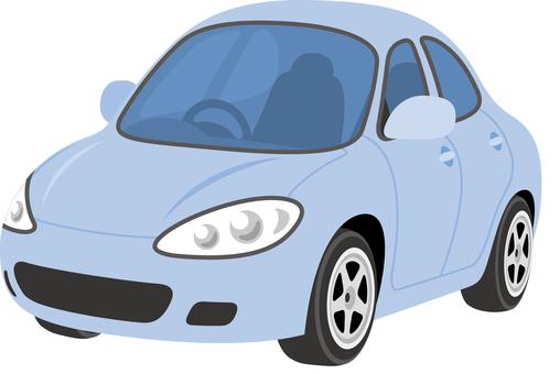 Car sedan blue