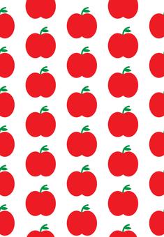 昭和レトロ:リンゴのパターン2