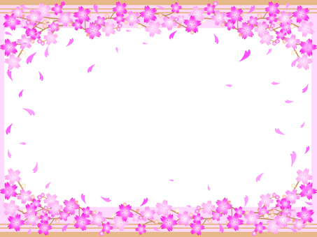 Simple 6 lines Cherry Blossoms Frame 06