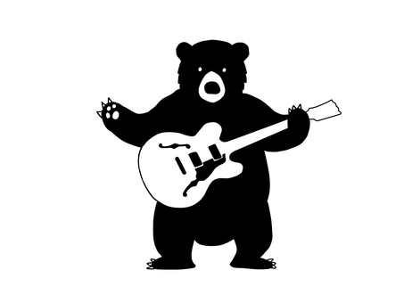 Bear and guitar