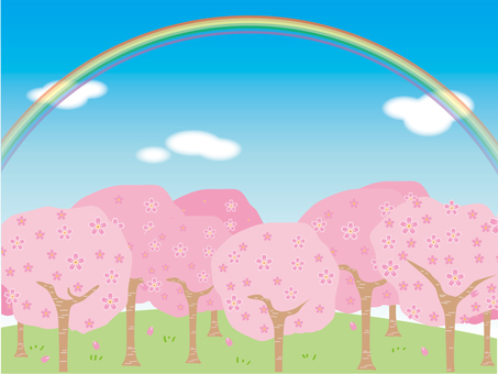 Cherry Blossom Forest 1 Rainbow