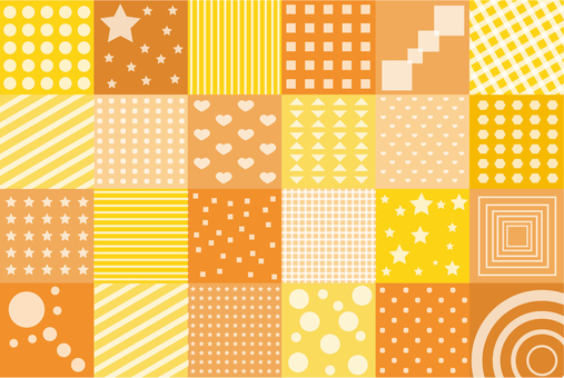 Wallpaper - Patchwork S - Orange type